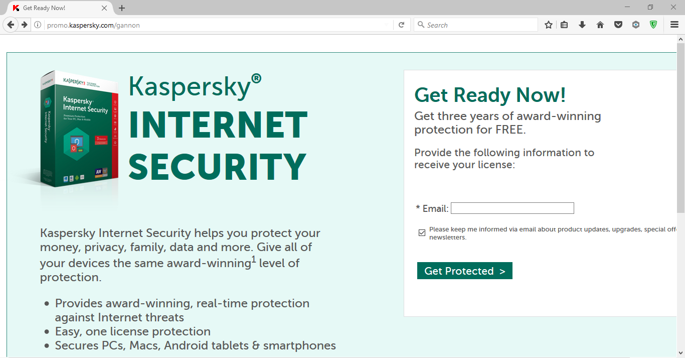 free 3 year kaspersky internet security multi device for. Black Bedroom Furniture Sets. Home Design Ideas